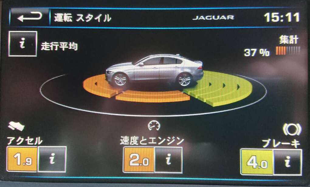 ジャガーXE 20t のエンジン音